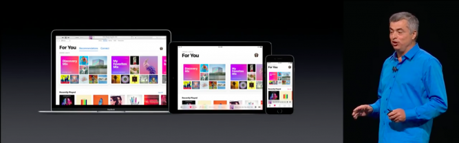 The re-designed Apple Music on iPhone, iPad and Mac...